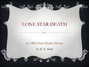 Lone Star Death by B. A. Neal