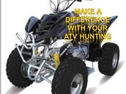 Make a difference with your ATV Hunting