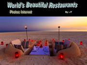 World's Beautiful Restaurants