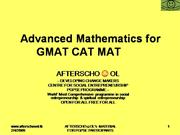 MATHEMATICS FOR GMAT CAT MAT XAT RMAT