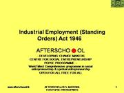 Industrial Employment (Standing Orders) ...