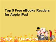 Top 5 Free eBooks Readers for Apple iPad