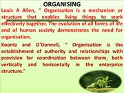 Chapter 6 - Organising and Organisational Culture