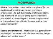 Chapter 9 - Motivation