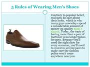 5 Rules of Wearing Men's Shoes | custom shoes