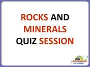 ROCKS AND MINERALS--QUIZ