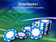 SPORTS CASINO CHIPS THEME GAME PPT TEMPLATE