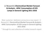 Research ElectroniCast Market Forecast & Analysis - APAC Consumption o