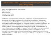 Entertainment Career Connection and Mentor Apprentice School of the Ar