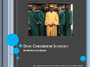 Research Project Deaf Children in Schools