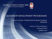 Church Leaders Development Workshop