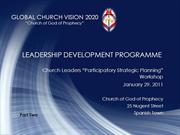 Church Leaders Workshop_ Part 2