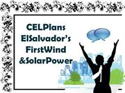 CEL Plans El Salvadors First Wind & Solar Power Plants