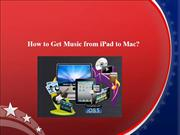 How to Get Music from iPad to Mac