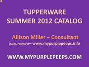 USA Summer 2012 Tupperware Catalog