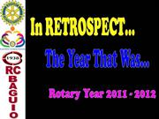 Rotary Club of Baguio RY 2011 - 2012