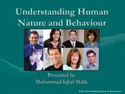 Understanding Human Nature and Behaviour (1)