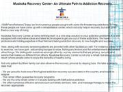 Muskoka Recovery Center- An Ultimate Path to Addiction Recovery