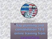 Sap Planning and Consolidation online training