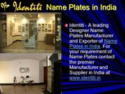 name plates in india