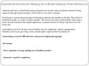 Importance of Airbrush Makeup for a Bridal Makeup Artist Melbourne