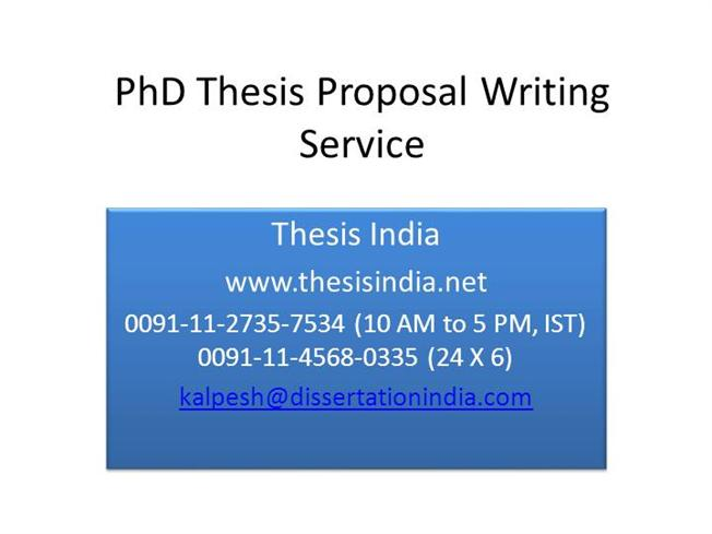 Help Writing Dissertation Proposal Phd