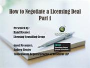 How to Negotiate a Licensing Deal