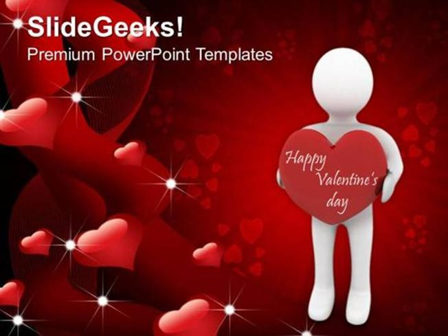 Christian man with a heart youth valentines day youth ppt template related powerpoint templates toneelgroepblik Gallery