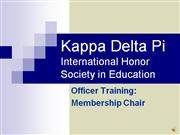Membership Chair Training with sound