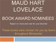 Maud Hart Lovelace 2008 nominees