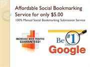 Affordable Social Bookmarking Service for only $5