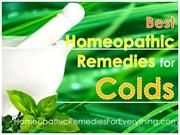 Best Homeopathic Remedies for Colds