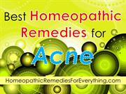 Best Homeopathic Remedies for Acne
