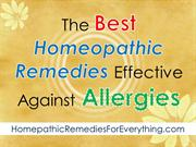 The Best Homeopathic Remedies Effective Against Allergies