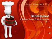 CHRISTIAN 3D MAN WITH CHOCOLATE CAKE VALENTINES DAY PPT TEMPLATE
