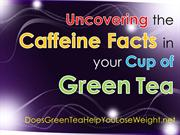 Uncovering the Caffeine Facts in your Cup of Green Tea