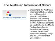 Australian Nursery Sharjah, Australian International School Sharjah, A