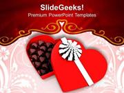 FOOD CHOCOLATES GIFT BOX LOVE PPT TEMPLATE