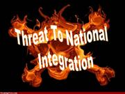 threat to national integration