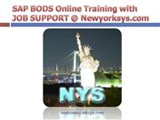 SAP BODS Online Training