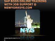 SAP BODS Online Training from newyorksys