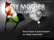 My Mother by APJ Abdul Kalam