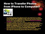 How to Transfer Photos from iPhone to Computer