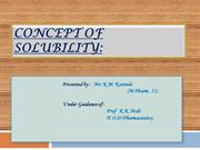 concept of solubility