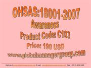 OHSAS 18001 Awareness and Auditor Training