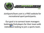 JoinSportsTeam.com Intro