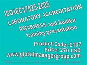 ISO 17025 Awareness and Auditor Training