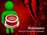 CHRISTIAN MAN WISHING VALENTINES WITH CAKE PPT TEMPLATE
