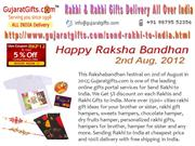 Send Rakhi and Rakhi Gifts to India Online for Raksha Bandhan 2012