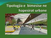 The typology of vegetation in urban areas in tirana (ALBANIA)